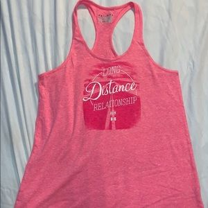 """UNDER ARMOUR tank! """"Long Distance Relationship"""""""